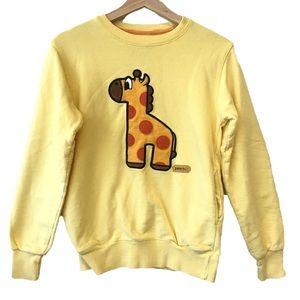 Pancoat Giraffe Yellow Sweatshirt w/ Pockets
